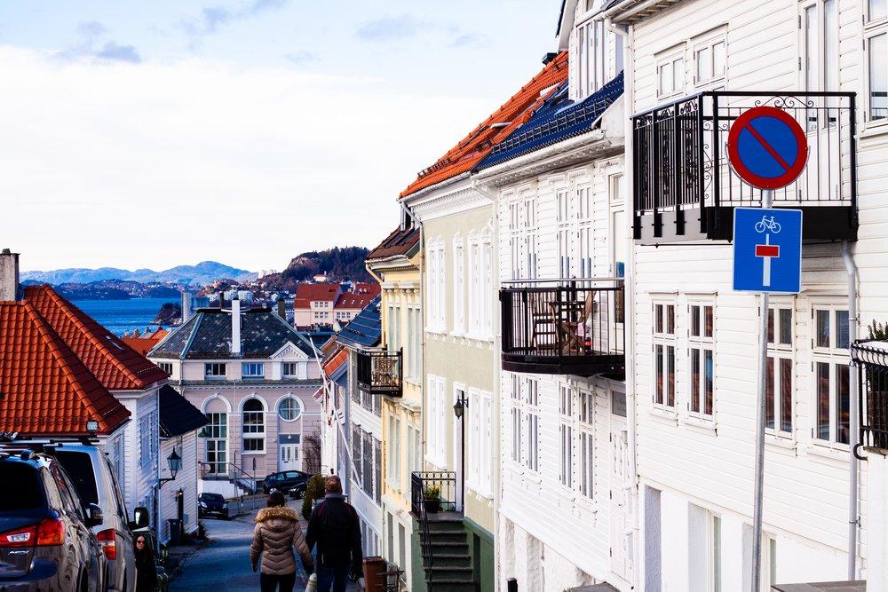 Bilder från Bergen i Norge