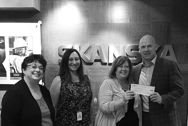 Special thanks for your generous donation to fund brand new jeans for homeless students. Looking forward to welcoming Team @skanskausa especially, Brian Stierick, Denise Kiser & Bridget Edwards to this year's Jump Start!