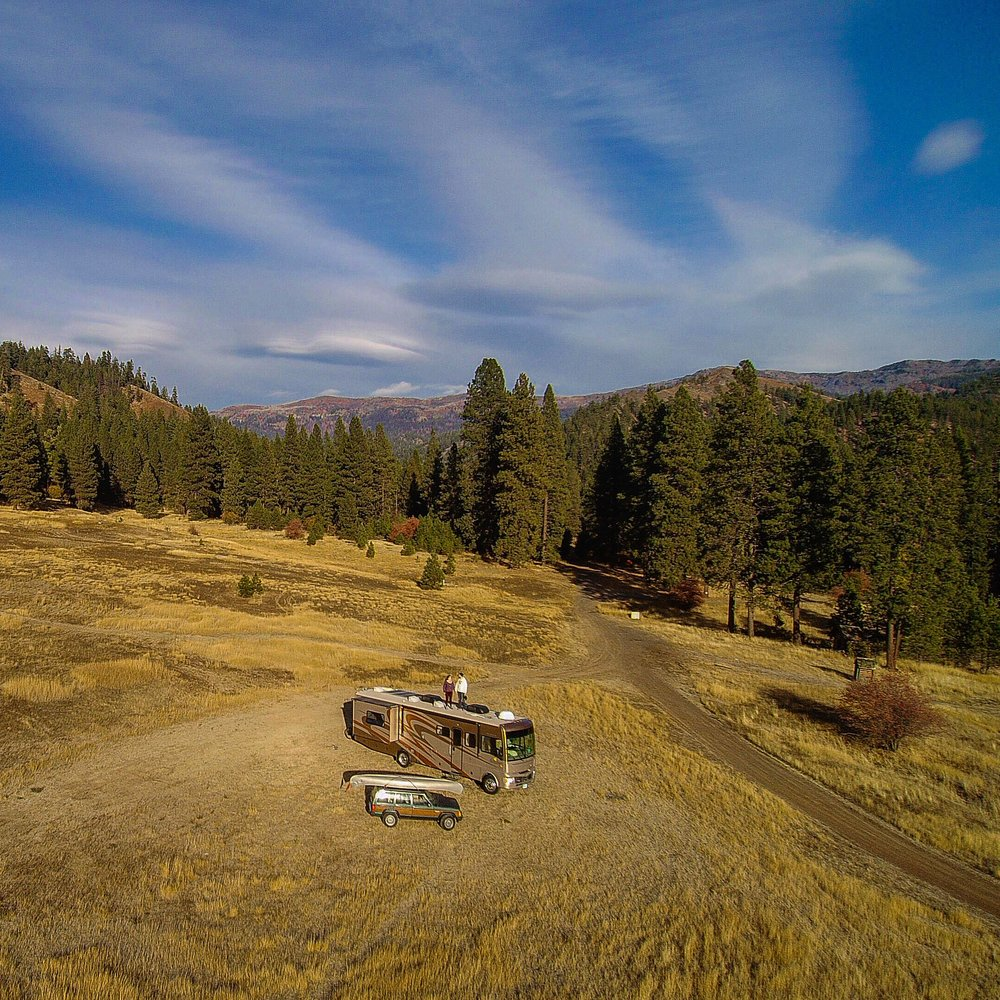 Eastern Washington view living off the grid on BLM land