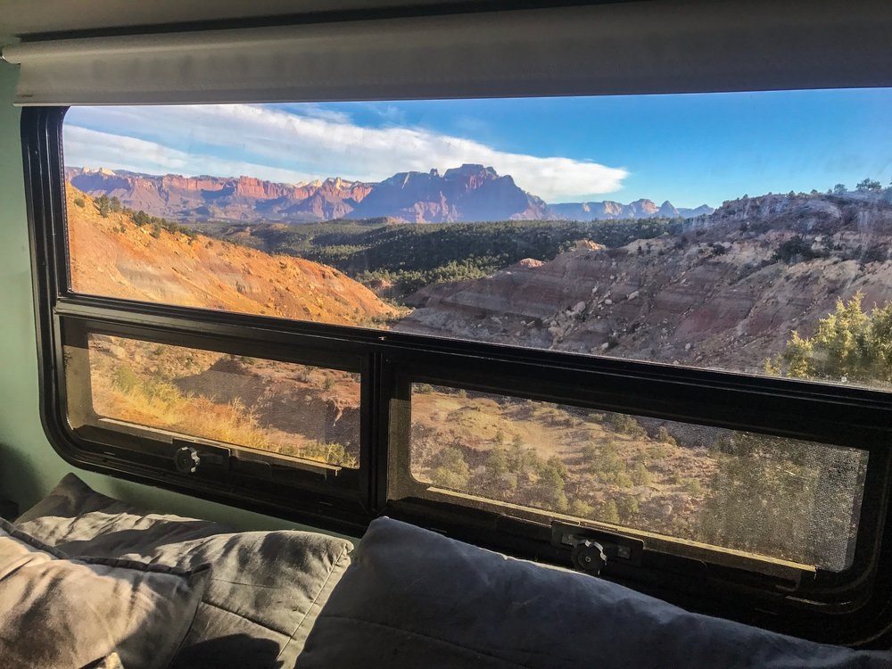 Views out our Window near Zion National Park