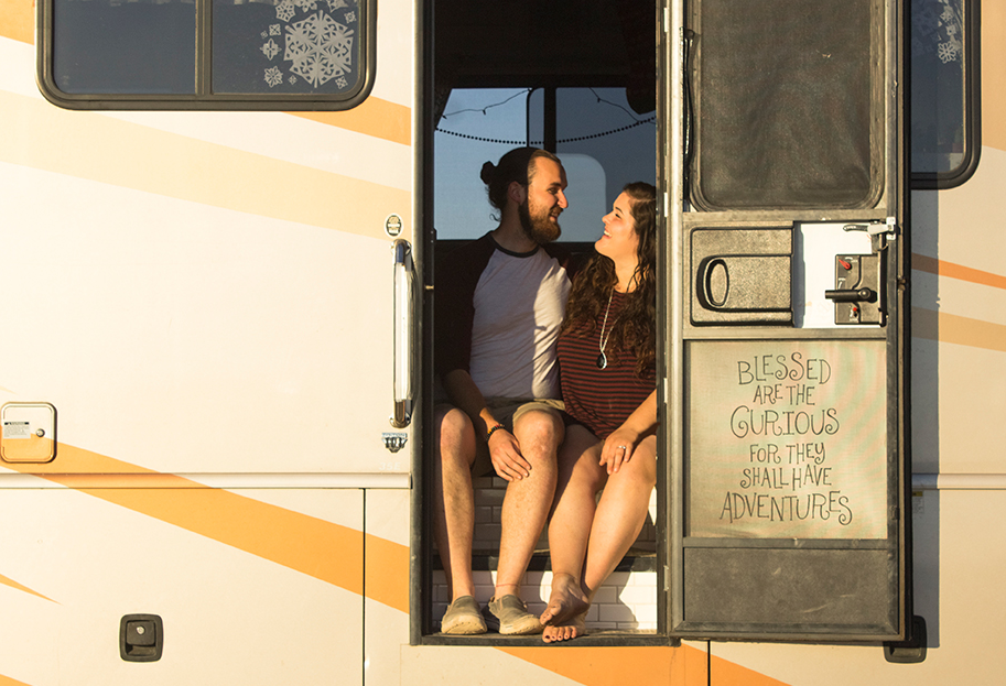 Samantha Binger - Samantha and her husband Brendan are a twenty-something couple traveling across America in their 36 foot renovated motorhome. They left their house and hometown, packed up their lives and pets, and hit the open road. As digital nomads of entrepreneurship, they seek adventure, spimplicy, exploration, and experience. Follow their journeys on instagram @liveamongpines and through their personal blog.