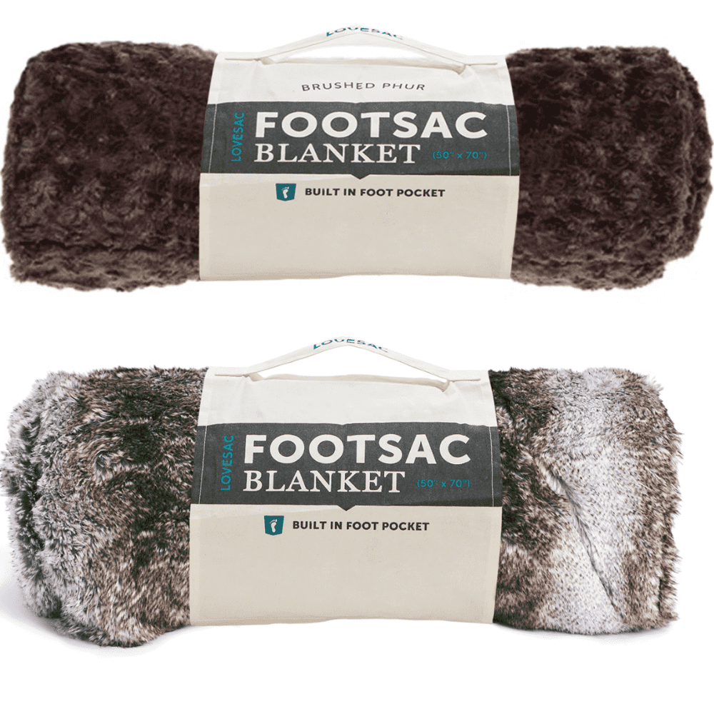 LOVESAC FOOTSAC - Really, a blanket on a menswear blog? Yes! If the cabin socks, robe, and Uniqlo HeatTech mentioned above don't keep you warm or if you just prefer to use a blanket. This blanket will solve the problem.Purchase now at lovesac.com from $150.00