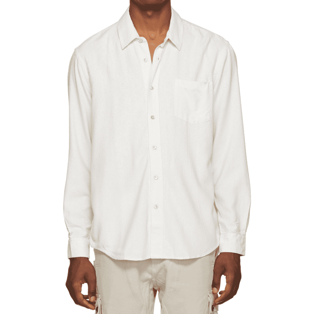 OUR LEGACY SILK SHIRT - This simple white shirt is one of the best you can buy. The material is a pilled silk, very soft, drapes beautifully. Slightly off-white color blends with other colors nicely.SELLOUT RISK: LOW MED HIGHPurchase now at ssense.com for $275.00 or ourlegacy.se for €220.00