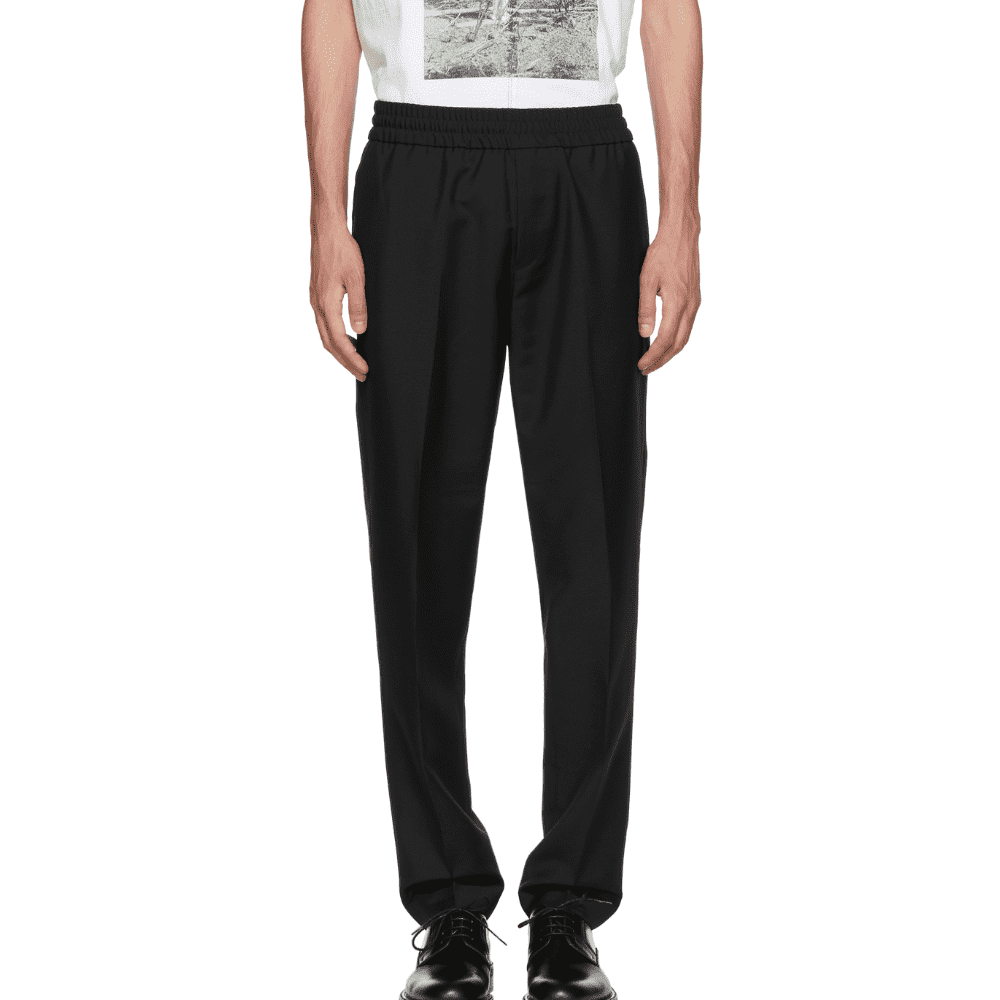 ACNE STUDIOS RYDER TROUSERS - No belt, no buttons, no problem. It doesn't get much easier to put these pants on from Acne Studios.SELLOUT RISK: LOW MED HIGHPurchase now at ssense.com for $310.00