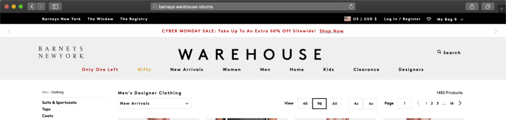 CLICK IMAGE TO BARNEYS WAREHOUSE CYBER MONDAY DEALS