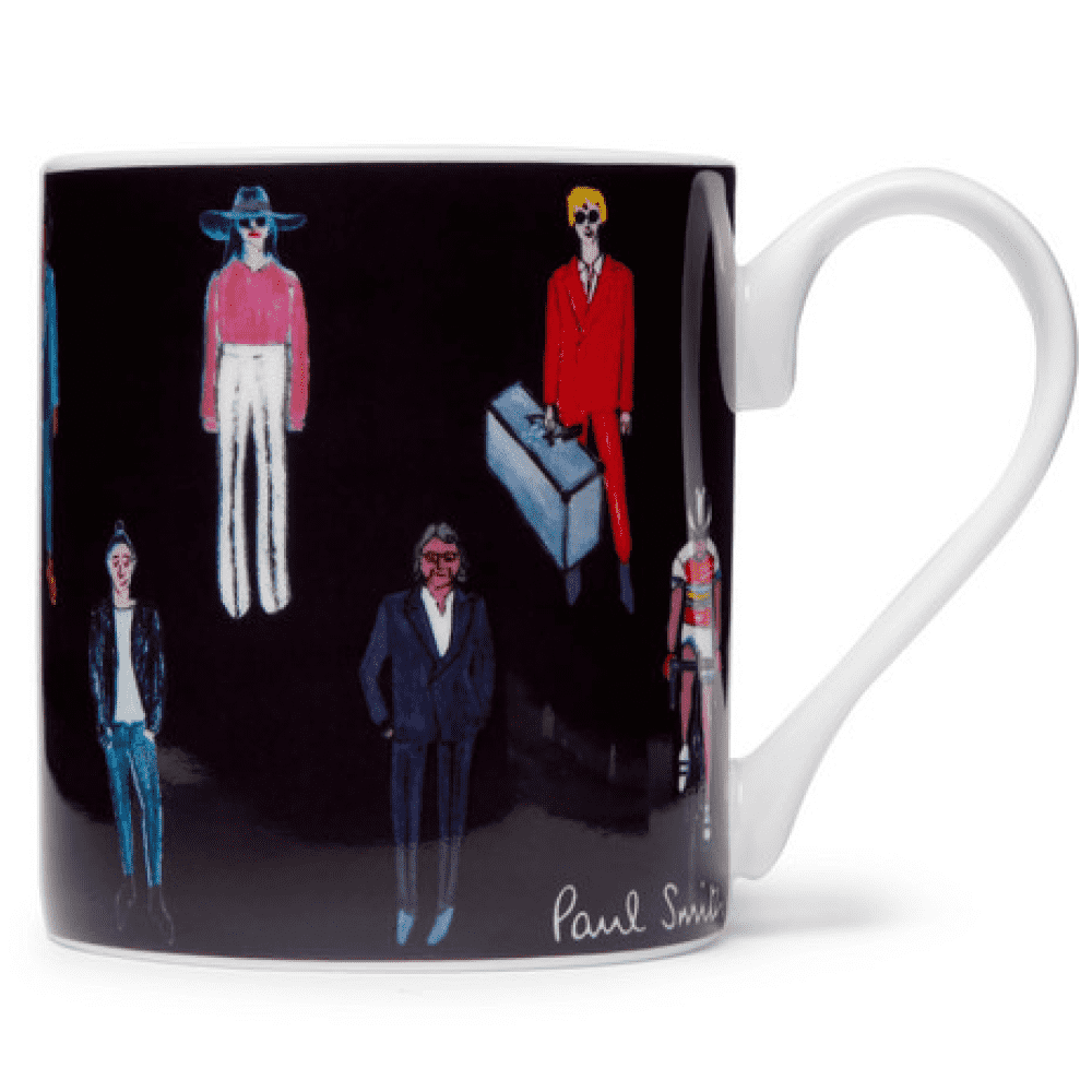 PAUL SMITH PRINTED CHINA MUG - Mugs are classic gifts and this one from Paul Smith ads a nice touch of menswear to a simple mug.SELLOUT RISK: LOW MED HIGHPurchase now at mrorter.com for $30.00