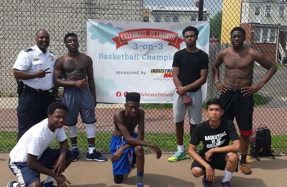 3 on 3 basketball tournament -