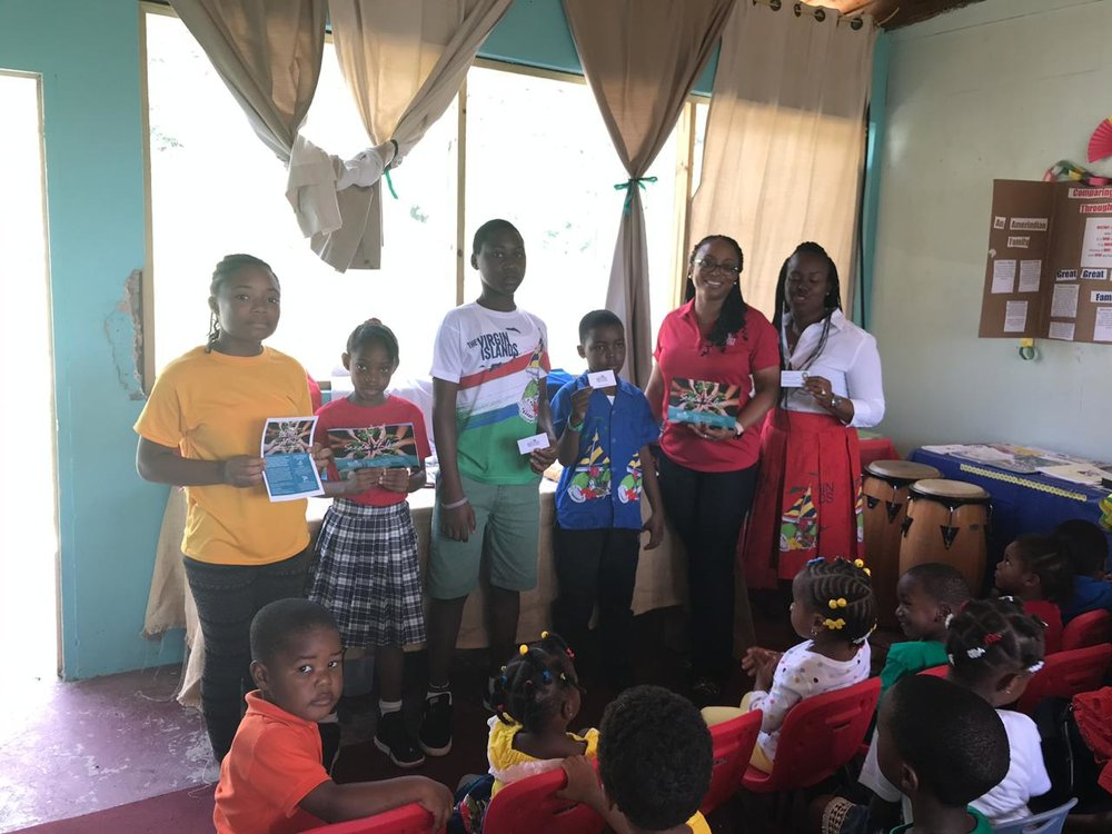 "The Jost Van Dyke Primary School helps ""Seeds of Love"" by learning about the importance of replanting in the BVI. Students also participated in a planting day."