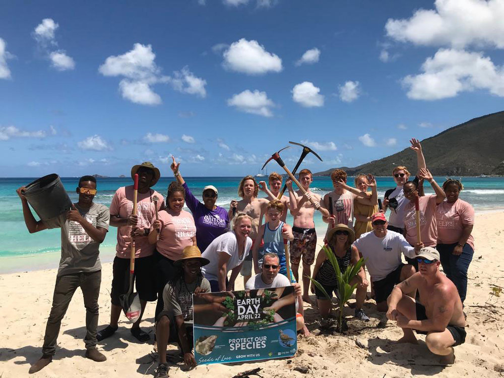 The Lynch Family, hailing from Virginia, volunteered and planted a mixture of sea grape and coconut trees on Savanna Bay beach in Virgin Gorda. The family has been visiting the BVI for over 20 years.