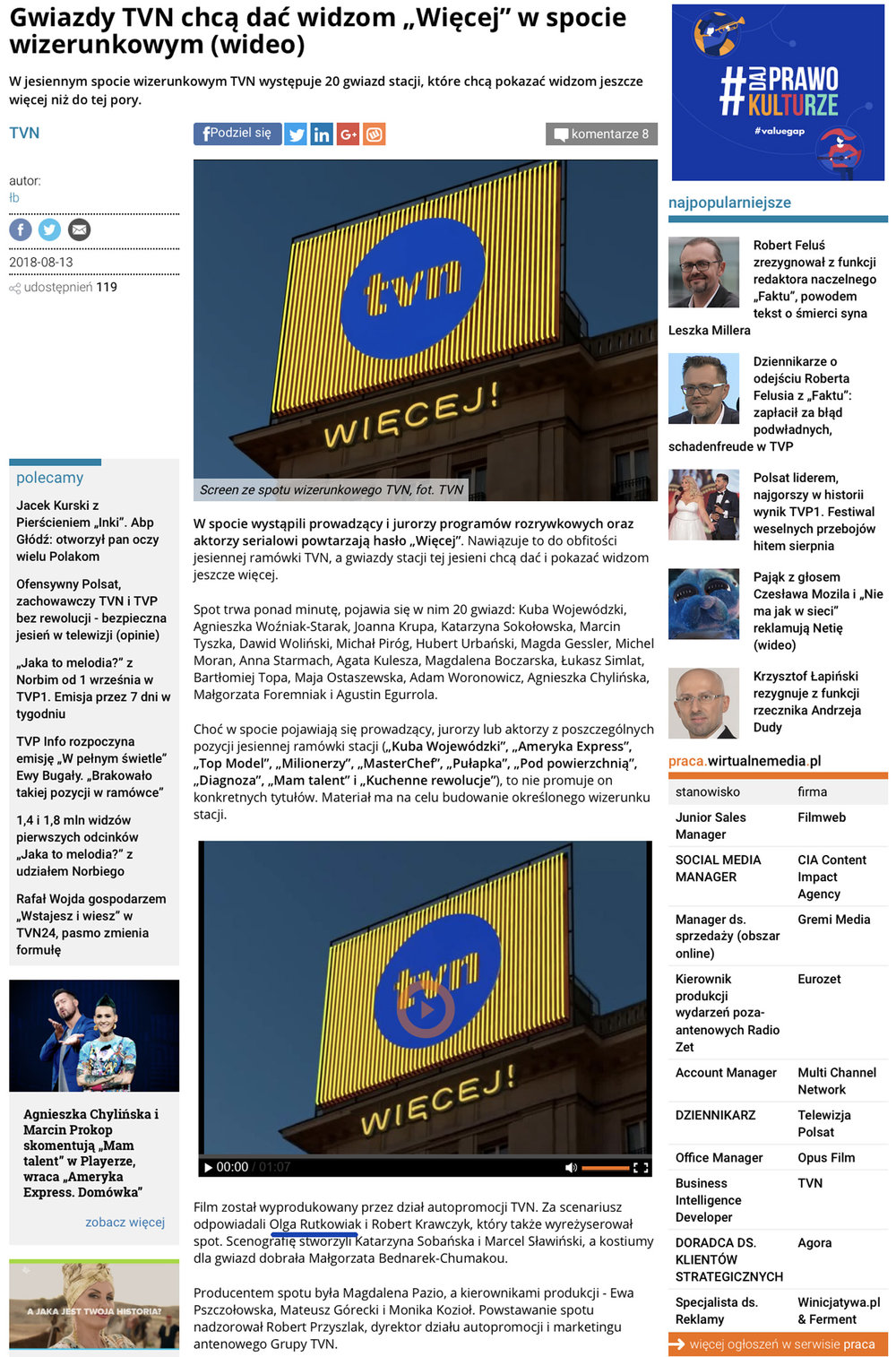 wirtualne media tvn Olga Rutkowiak top model pulapka