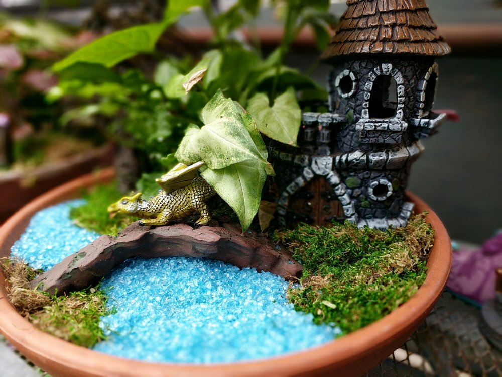 CUSTOM FAIRY GARDEN CASTLE