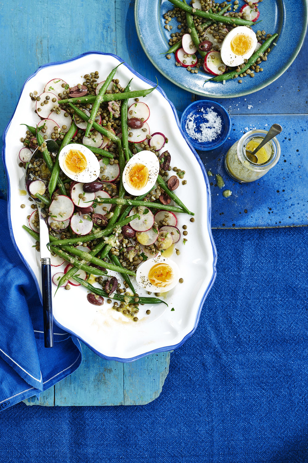 Lentil Nicoise Photograph Charlie Richards Prop Styling Tonia Shuttleworth