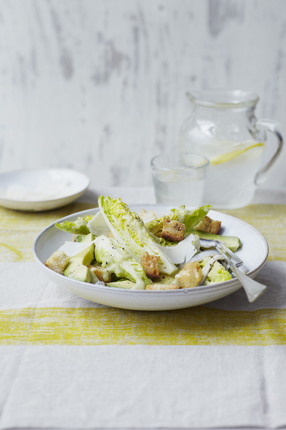 Avo 'Caesar' Salad Photograph Clare Winfield, Prop Styling Wei Tang (from The Goodness of Avocado)