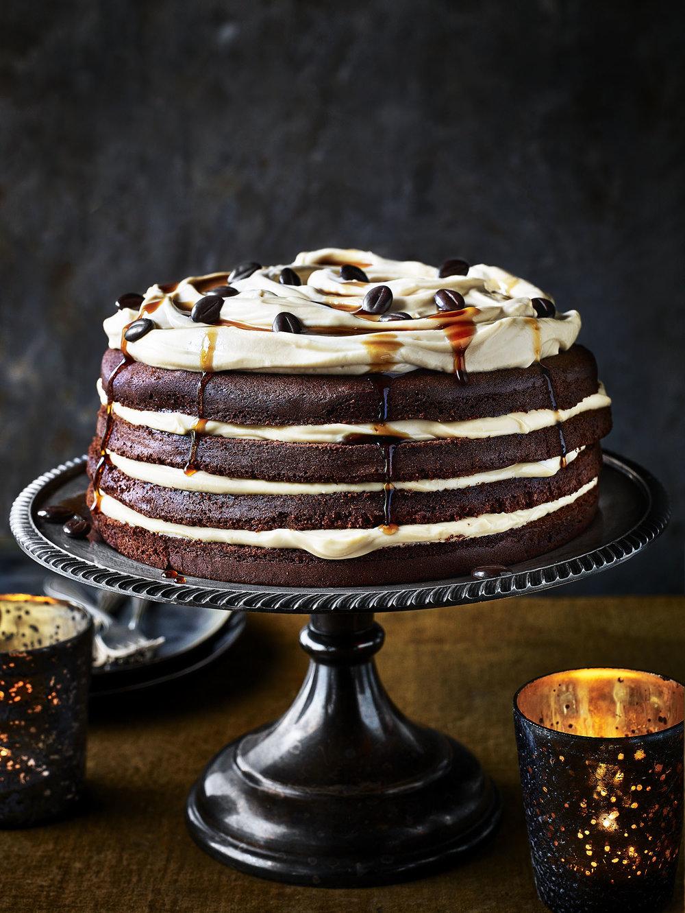 Chocolate Espresso Martini Cake Photograph Kris Kirkham Prop Styling Olivia Wardle