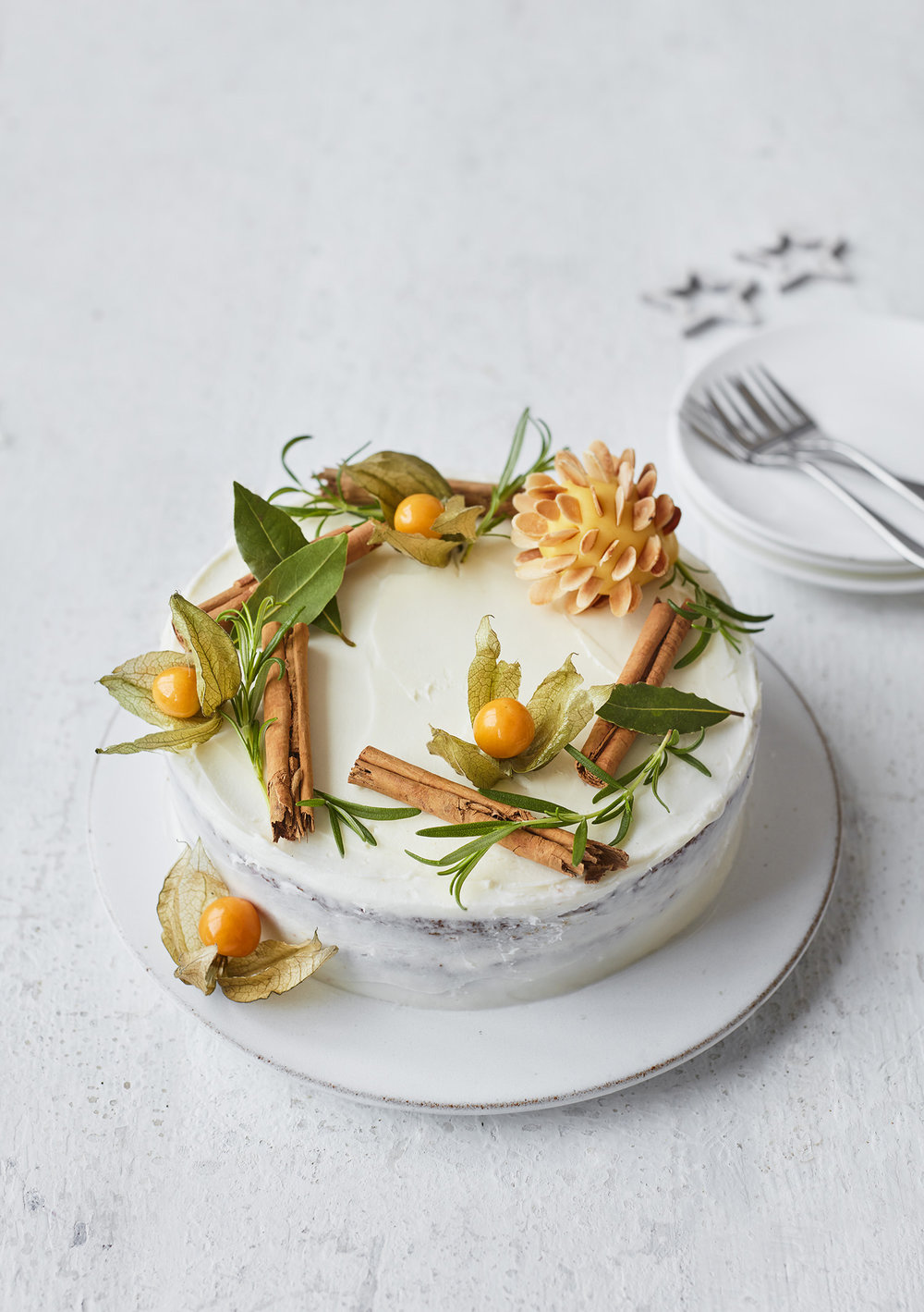 Wreath Cake Photograph Stuart Ovenden Prop Styling Morag Farquhar Recipe Holly Bell (for Tesco Magazine)