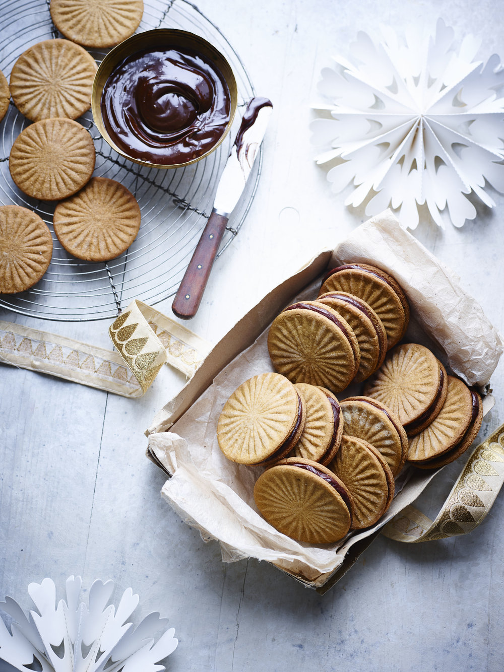 Speculaas Cookie Sandwiches Photograph Maja Smend Prop Styling Olivia Wardle