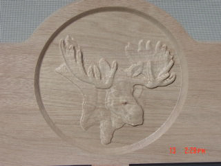 Carved Moose