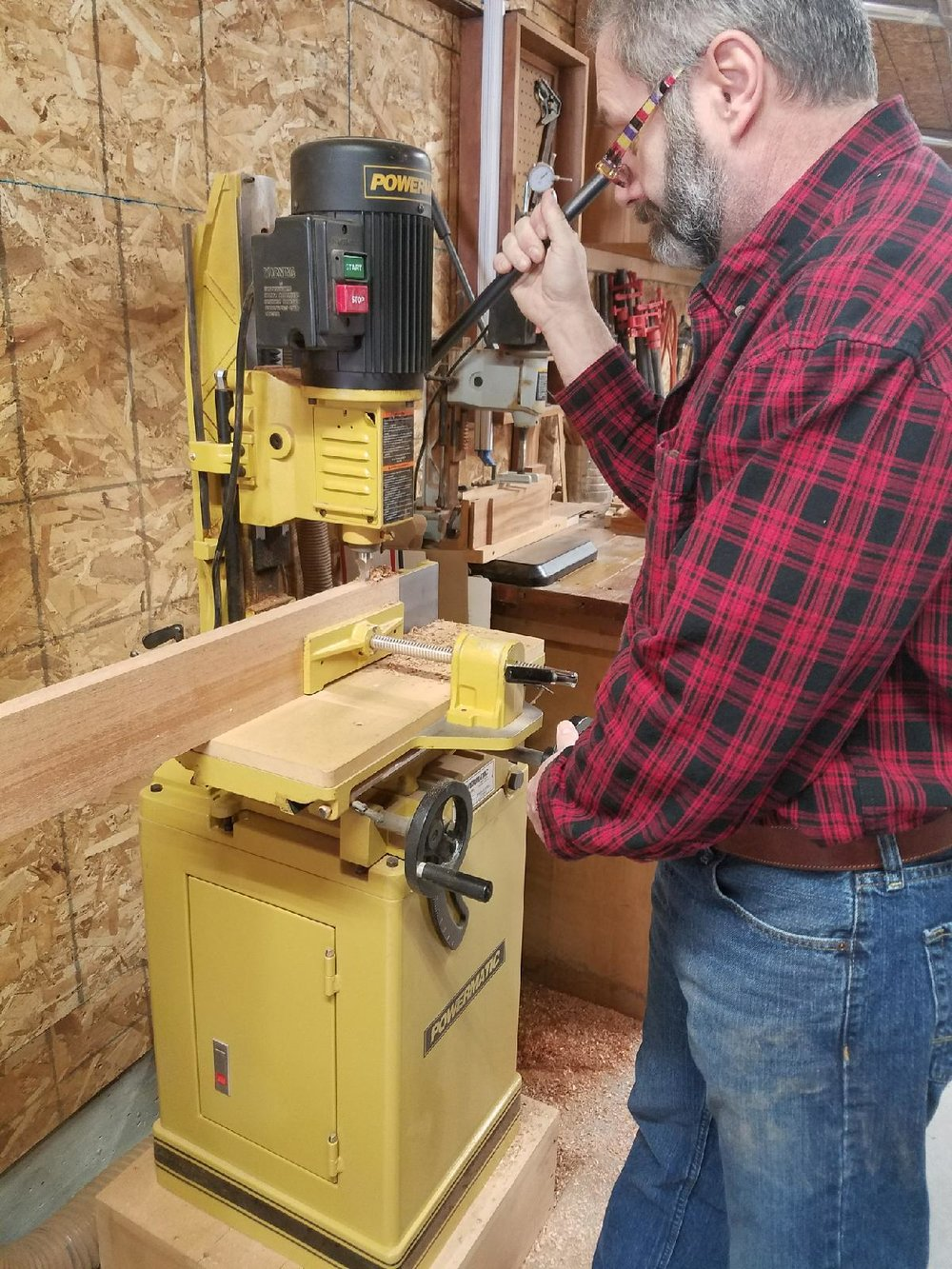 Founder and Master Craftsman Craig Lehigh - Working away at his newest Custom Door Design