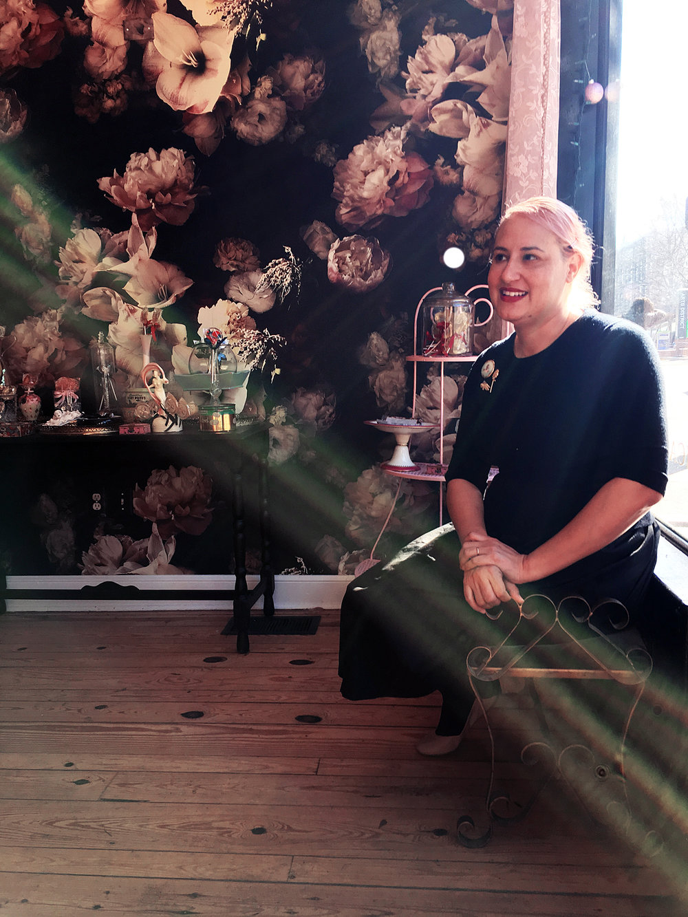 Vanessa Beller in her Broad Street shop.  Photo: Nicole Lang