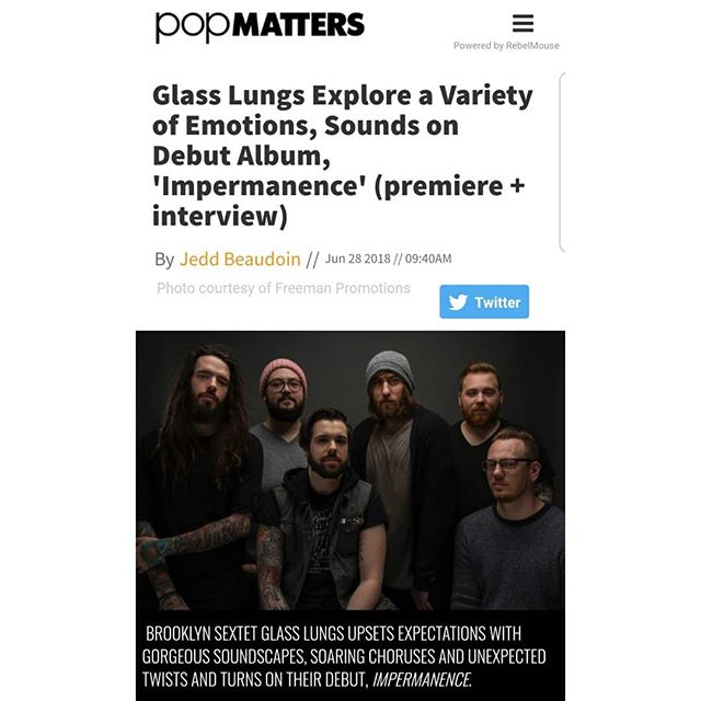 "STREAM ""IMPERMANENCE"" RIGHT NOW! Premiering on @popmatters website as well as an interview done with @alex_as_usual. Follow the link in our bio to hear the record a day early! And dont forget to tell us what you think 😏🤘"