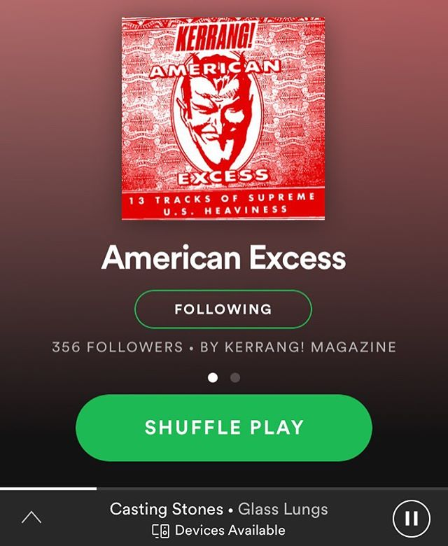 "We are so stoked to be included in the @kerrangmagazine_ ""American Excess"" Spotify playlist! Thank you! ❤️🇬🇧"