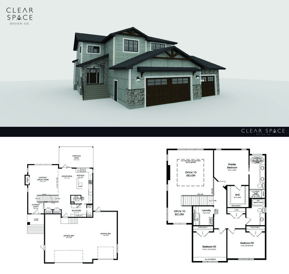 Clear Space 3d Rendering 1