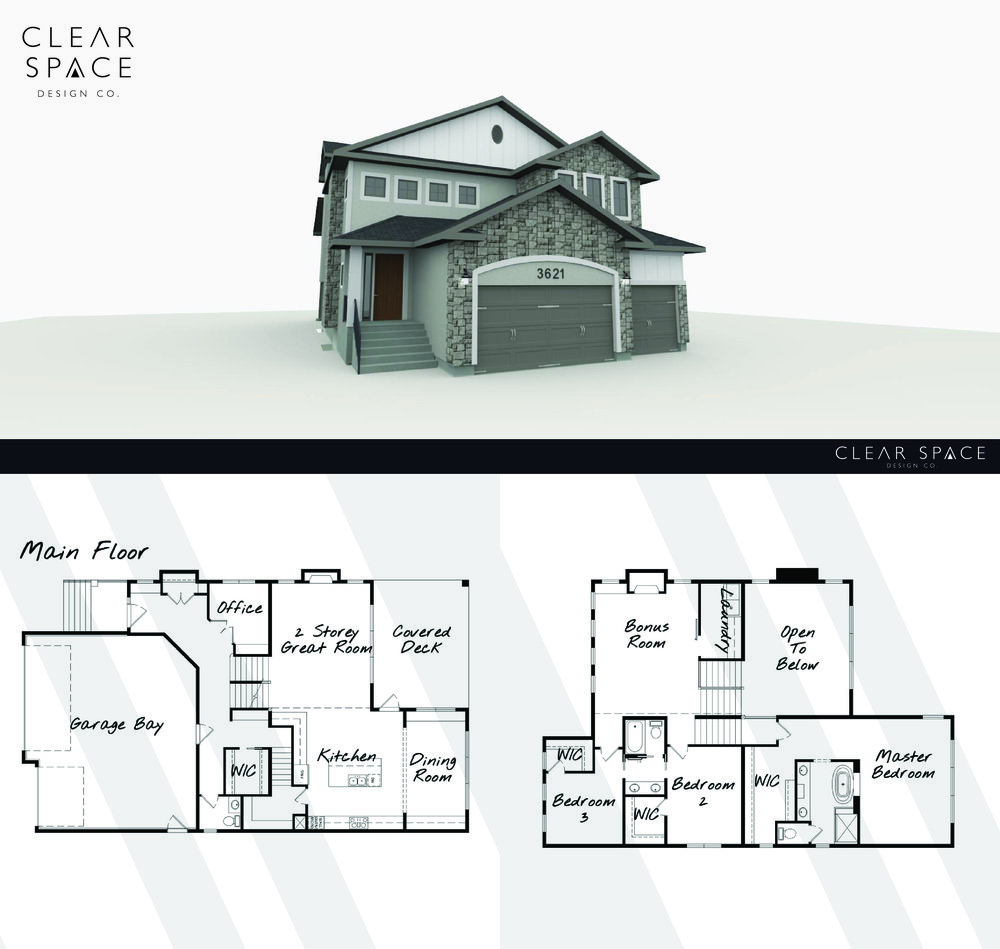 Clear Space 3d Rendering 5