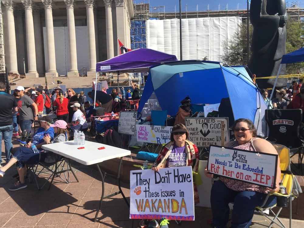 OEA did work hard to get this protest organized, but it took on a life of its own.  Teachers, parents, students and administrators camped out for two weeks.  Many felt OEA called it off before real change could happen.