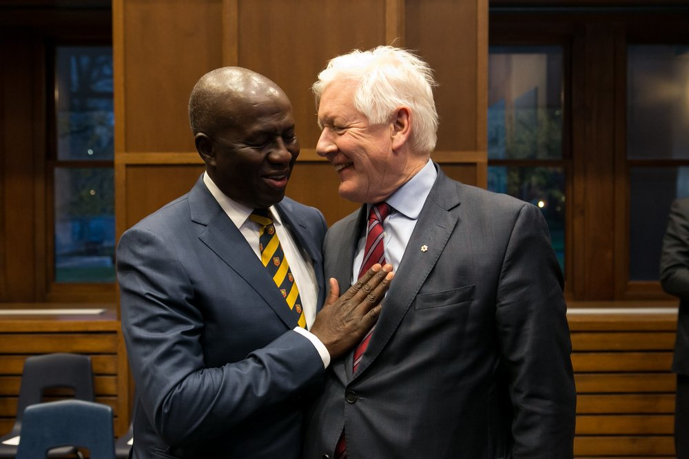 Justice Dikgang Moseneke and Raoul Wallenberg Centre for Human Rights Senior Fellow, Bob Rae.