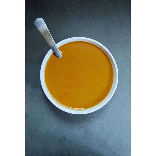 I've been cleaning my whole house instead of finishing a few papers, so I guess I'm a real writer now. Here's some red curry carrot soup. Running blended soups through a sieve is a gamechanger.