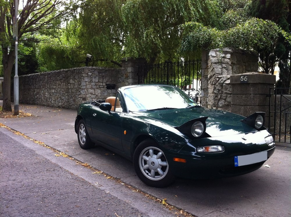 My MX5, before it was stolen and crashed by Dublin's great unwashed