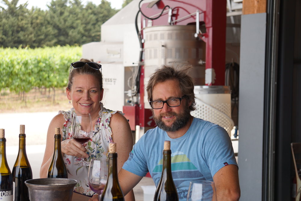 winemaker ernst storm with revist wine co founder mary nash