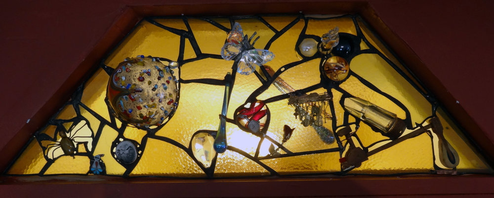 FINISHING TOUCH ~ Repurposed glass and client's treasures