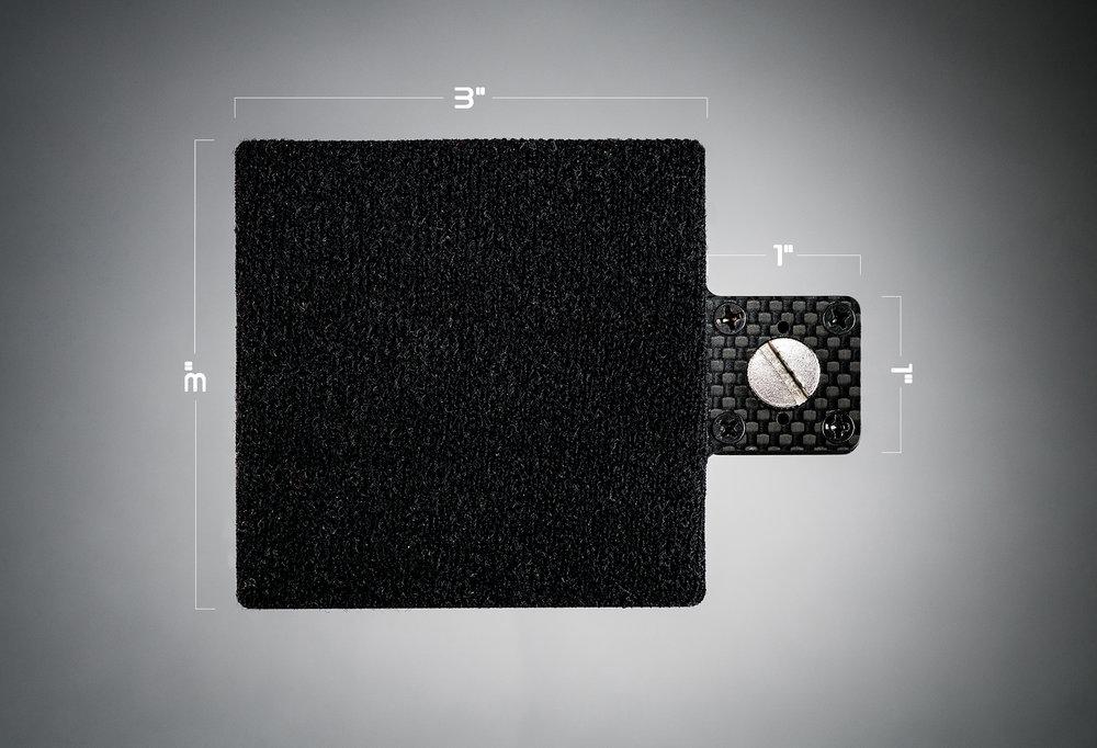 Ecto plate CF 3x3 dimensions
