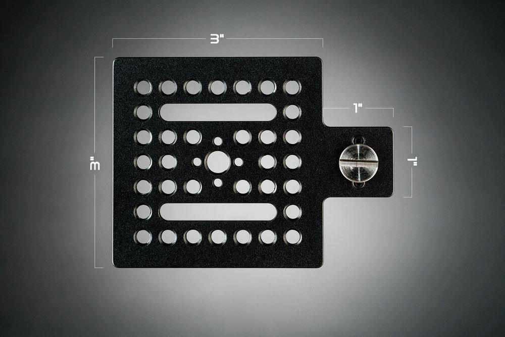Ecto Plate AL 3x3 dimensions