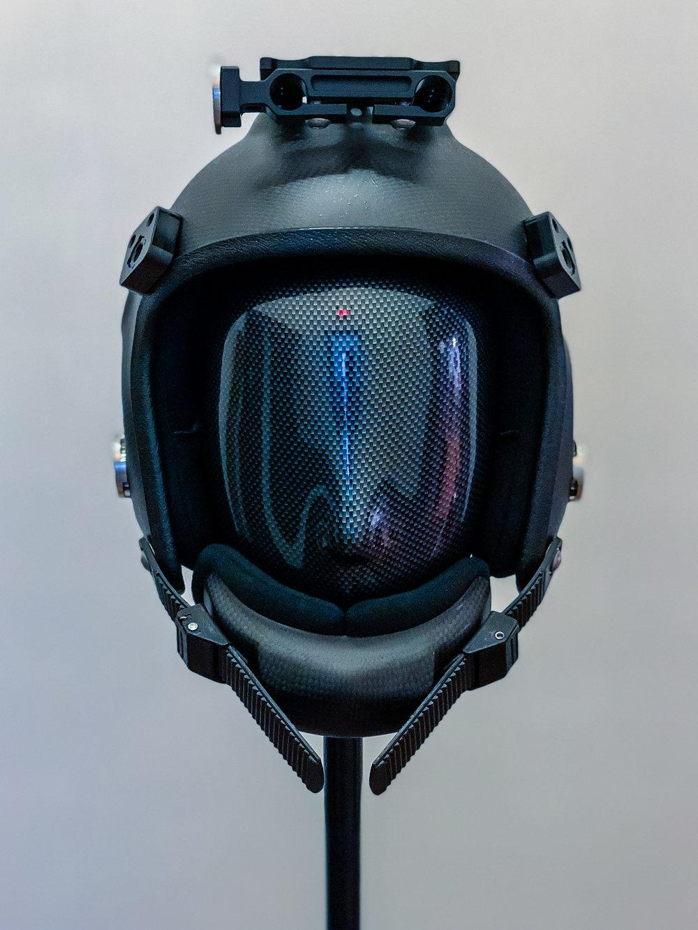 Front view of helmet