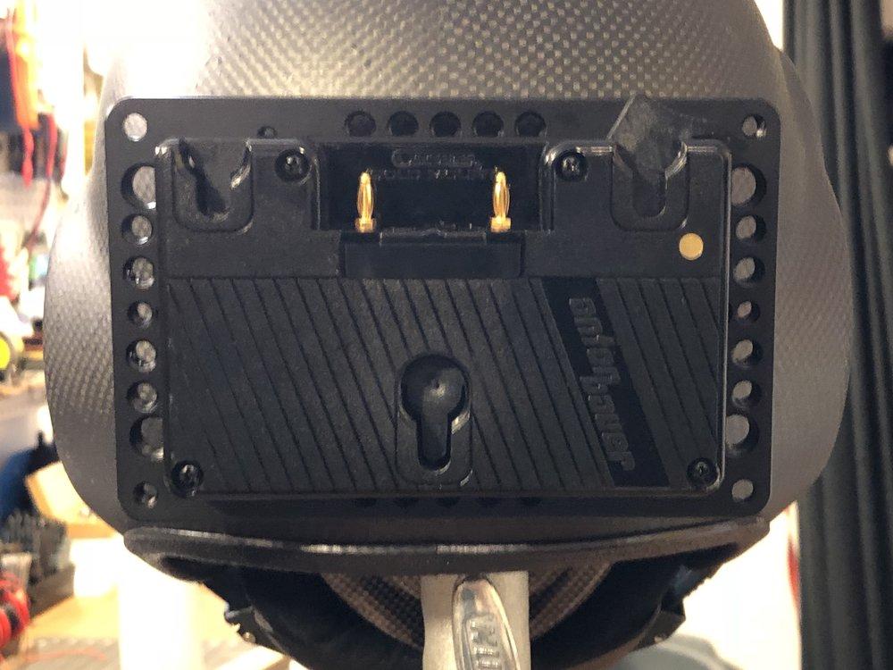Rear battery plate