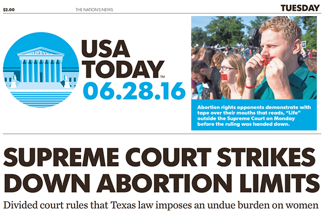 Matt Lockett (L) appears on the front page of USA Today on June 28, 2016 (Image via USA Today /    Newseum   )