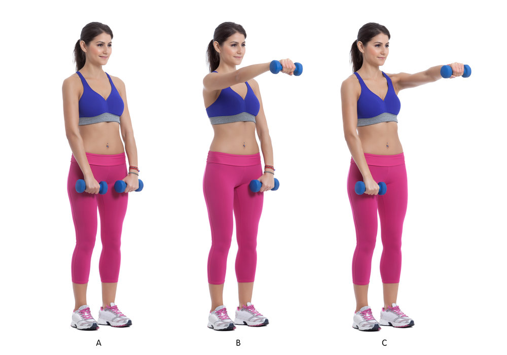 Alternating Front Dumbell Raise