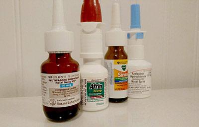 Different Nasal Sprays