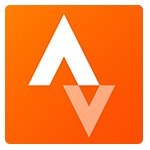 Strava Run and Cycling Tracker orange and white logo