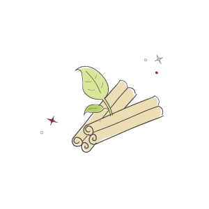Cinnamon sticks illustration