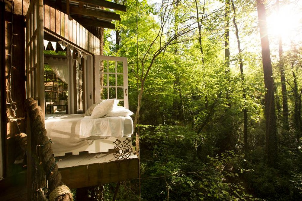 Secluded Intown Treehouse Airbnb in Atlanta Georgia Most Wished-For Listing Worldwide with three bedrooms called Mind Body and Spirit