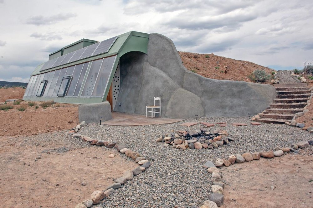 Brand New Studio Earthship AirBnb in Taos New Mexico off the grid
