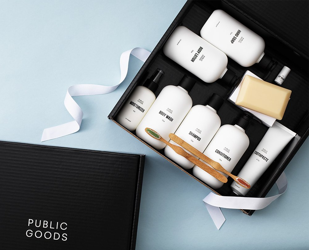 Public Goods personal care and hygiene package