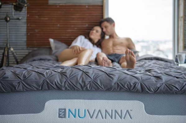 Man and woman on Nuvanna foam mattress