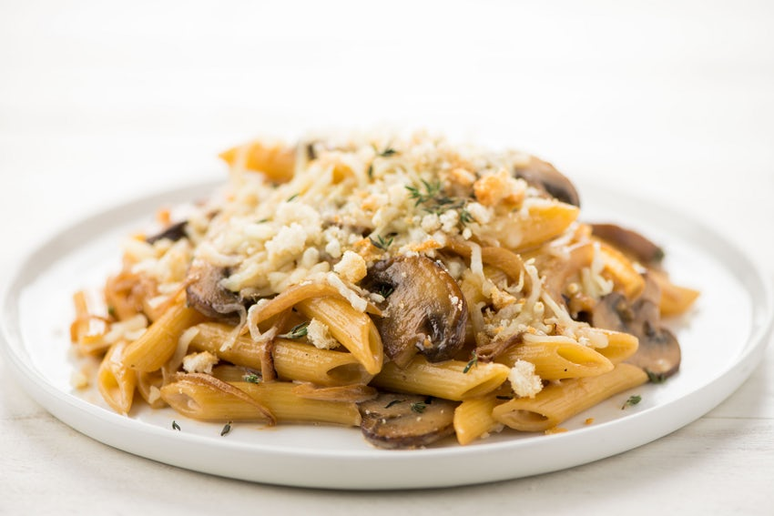 Baked French Onion Penne - With cremini mushrooms