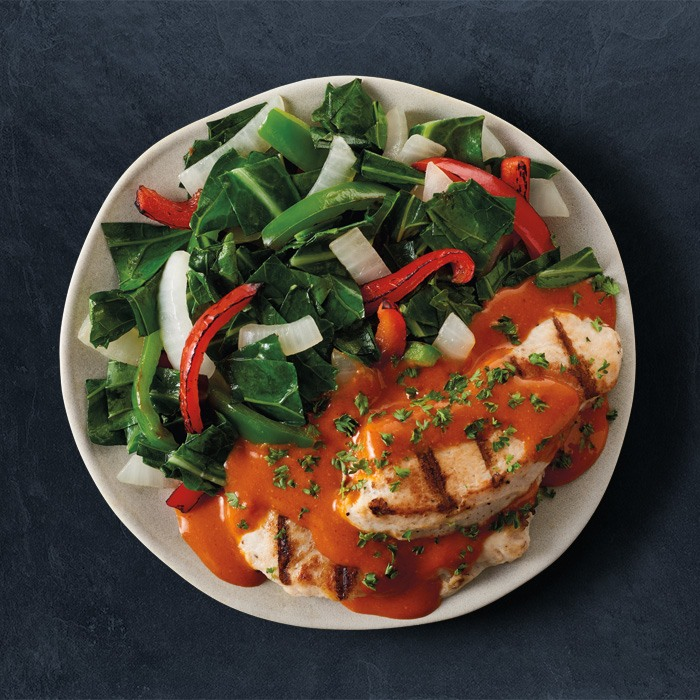 Double Grilled Sriracha Chicken - With Collard Greens