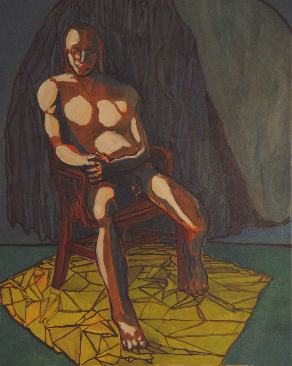 Nude Man Seated