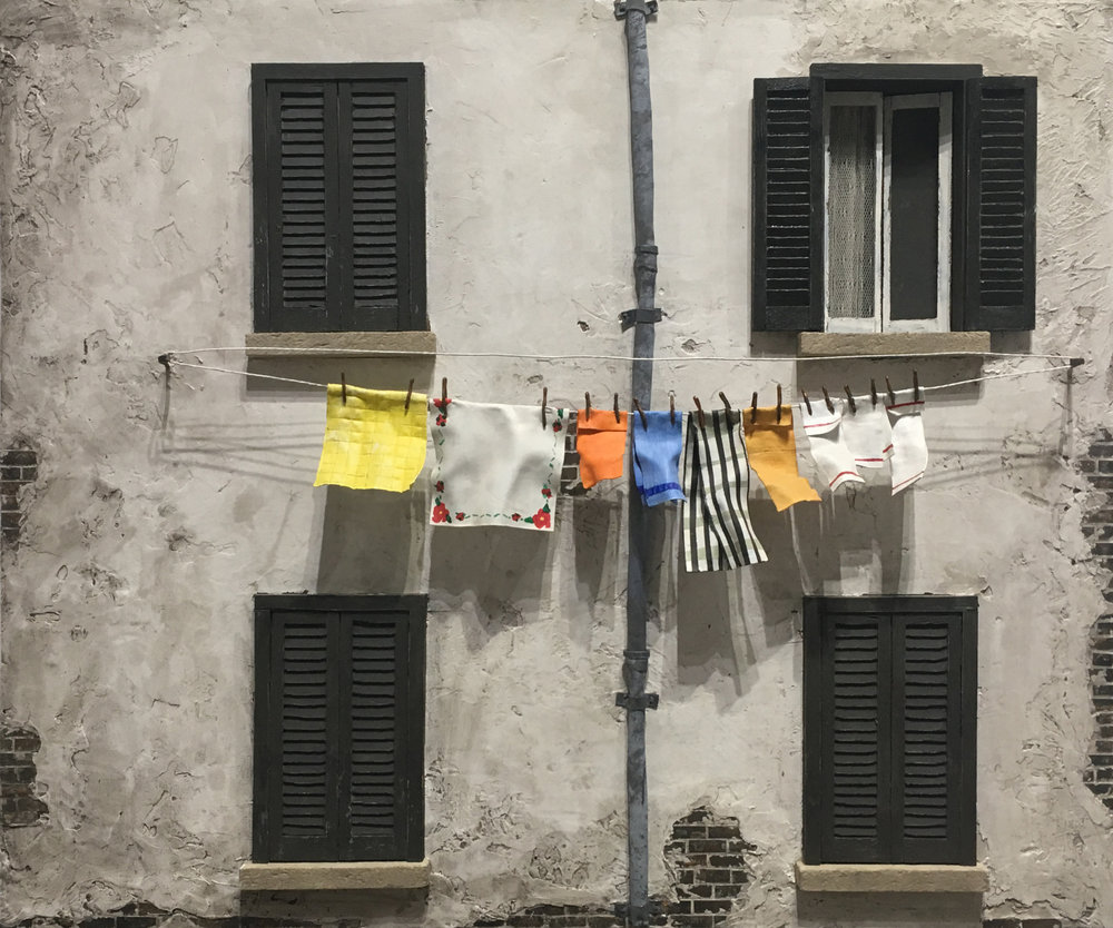 Black Shutters and Clothesline